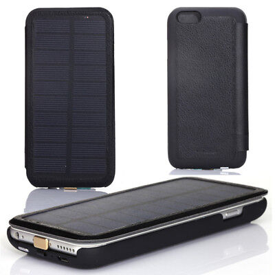 Solar Power Bank 2800mAh Battery Charger +Go berserk Protection Case iPhone 6 Plus 6s+