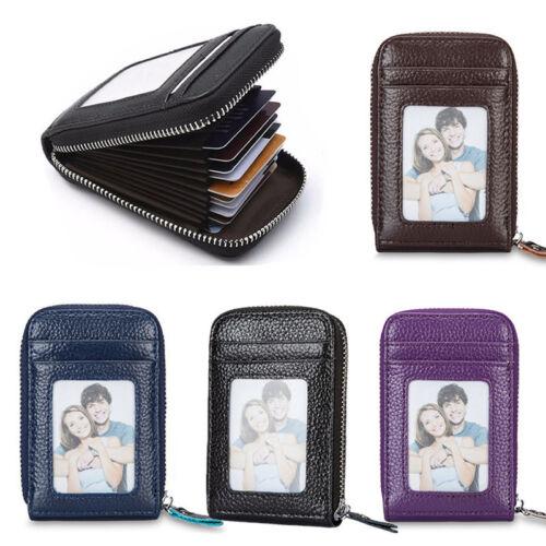 Men Women Slim Leather Wallet ID Credit Card Holder Case Organizer Small Purse