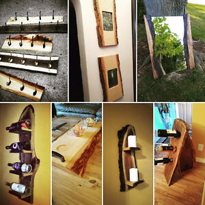 Woodworking - wine racks, chalkboards, live edge, mirrors &more