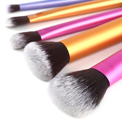 6pcs Eyeshadow Brushes Set Powder Foundation Lip Brush Makeup Cosmetic Tool EN