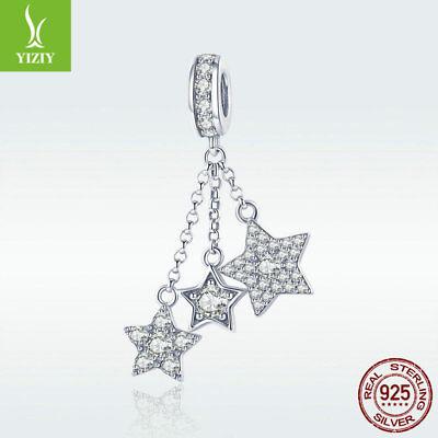 Crystal Star Charm Bracelet - High Quality 925 Sterling Silver Star Charm Crystal Tassel Pendant For Bracelet