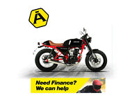 HANWAY CAFE 125 - CLASSIC RETRO MOTORCYCLE - LEANER LEGAL