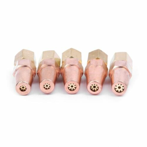 5Pcs Oxy Propane Gas Welding Nozzle Tips Metal Heads Holder H01-6 Welding Torch