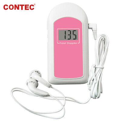 Fetal Doppler Prenatal Baby Sound 2mhz Baby Heart Monitorgellcd Displaycefda