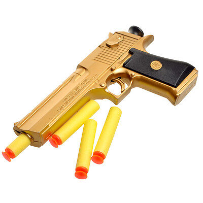 Custom Mini  Guns Pneumatic Gun Desert Eagle Toy Gun Soft Bullet Gift Boy