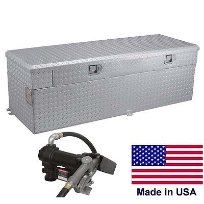 60 Gallon Auxiliary Tank Toolbox 55 X 20 X 19 - 12v Dc Pump - 6 8 Ft Bed