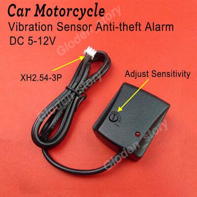 - DC 12V Vibration Detector Sensor Auto-guard Anti-theft Alarm for Car Motorcycle
