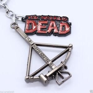 New The Walking Dead Daryl Dixon Metal Enamel Keyring Keychain