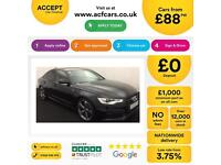 Black AUDI A6 SPORTBACK 2.0 3.0 TDI Diesel BLACK EDITION FROM £88 PER WEEK!