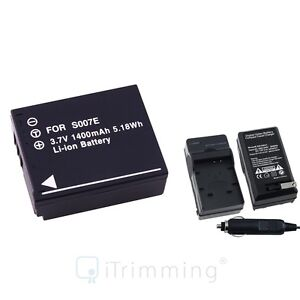 Charger-Battery-for-Panasonic-Lumix-CGA-S007E-DMC-TZ4-DMC-TZ5-TZ3-TZ2-TZ1