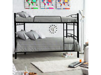 BRAND NEW STRONG METAL BUNK BED MODEL IN BLACK COLOR