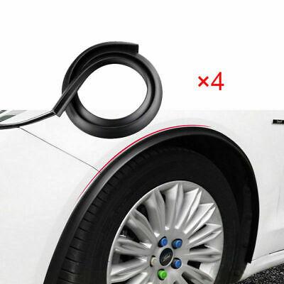 4-tlg. 150 cm Radlauf Verbreiterung Kotflügel Schmutzfänger schwarz  Universal
