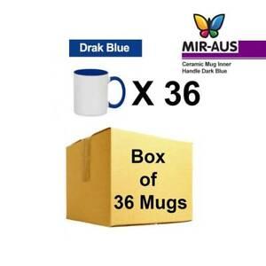 Sublimation Ceramic Mug Inner Handle Dark Blue