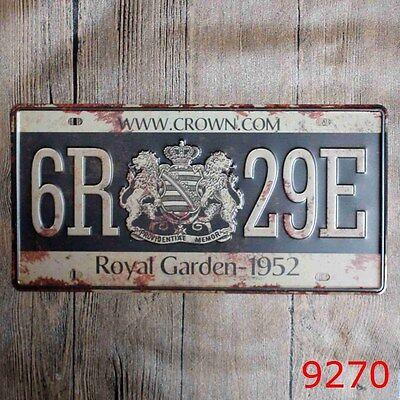 Metal Tin Sign royal garden Decor Bar Pub Home Vintage Retro Poster Cafe ART