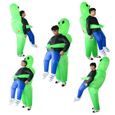 Cosplay Halloween Costumes Adult Alien Inflatable Blow Up Party Dress Outfit