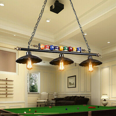 Antique Industrial Ball Design Pool Table Light Billiard Lamp with Metal - Antique Pool Table Lights