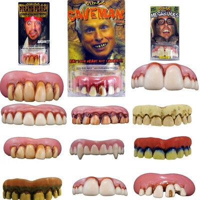 10Pcs Halloween Horror Dental Billy Bob Fake Teeth Props Party Cosplay Costumes  (Dental Halloween Costumes)