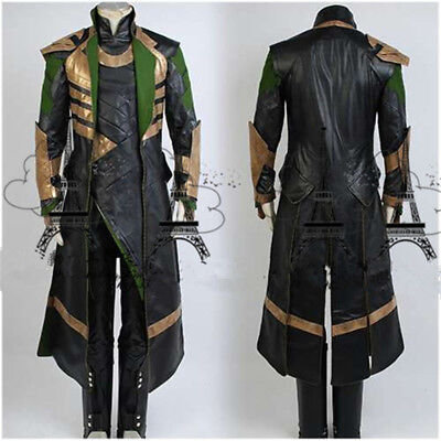 Costume Loki (The Avengers THOR Ragnarok Loki Fancy Cos Costume Full Set Customize)