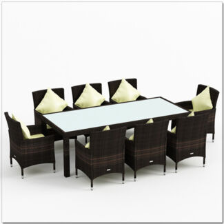 9pc PE Wicker Outdoor Dining Set - Brown or Black(9101) Dandenong South Greater Dandenong Preview