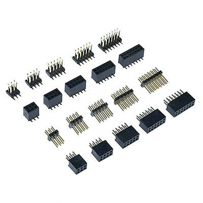 23456740p Female Socketsmale Pin Header 1.27mm Pitch Connector Double Row