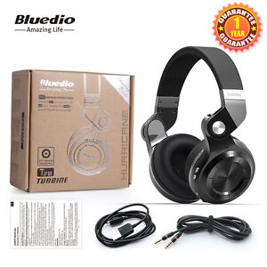 BLUEDIO T2S Bluetooth 4.1 Headsets Wireless Stereo Headphones Built-in Mic,Black