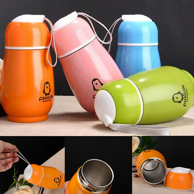 Penguin Bottle - Hot Lovely Stainless Steel Penguin Vacuum Cup Thermos Bottle Flask Cup Mug Kids