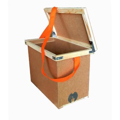 Transportation Box 6 Frames Beekeeping Hive Bee Beehive Wood Kit Storage New