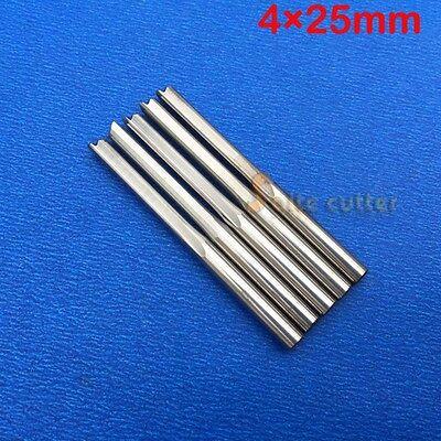 10pc Double Flute Straight Endmill Tool Cnc Router Bits Foam Mdf Pvc Wood 425mm