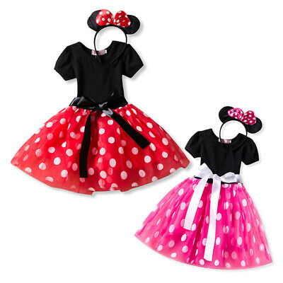 Minnie Costume Baby Girls Princess Tutu Dress Headband Cosplay Party Outfits - Mickey Mouse Tutu Costume