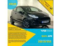 2017 FORD FIESTA ST-LINE SAT NAV PARKING SENSORS £0 ROAD TAX 1 OWNER SVC HISTORY