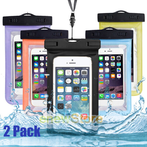 2x Swimming Waterproof Underwater Dry Bag Pouch Heavy Duty wlanyard For iPhone
