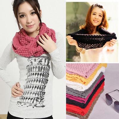 - Men Women Wool Knit Winter Warm Cowl Neck Infinity Circle Scarf Shawl Xmas Gift