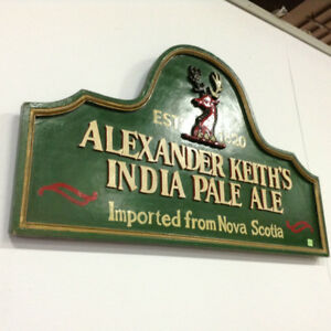 Hand Painted Wooden Alexander Keith's Sign