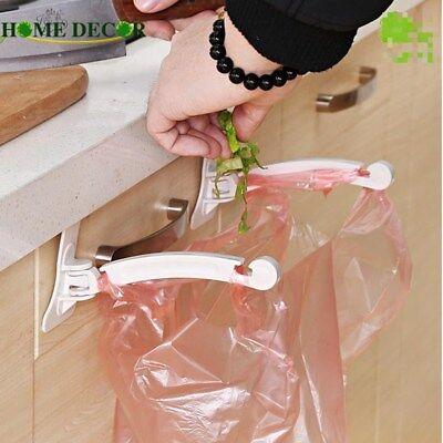 2 pcs Garbage Bag Hanger Cupboard Door Hanging Rack Holder Kitchen Accessories ()