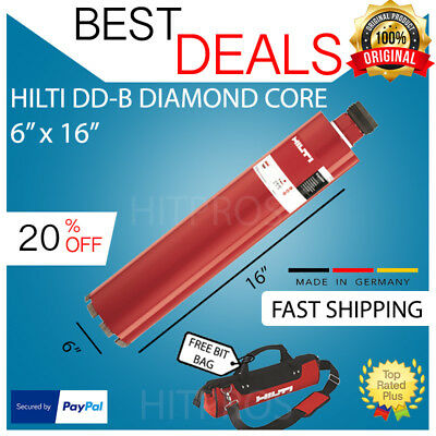 Hilti Diamond Core Bit Dd-b 6 X 16 Hcs New Free 12v Driver Set Fast Ship