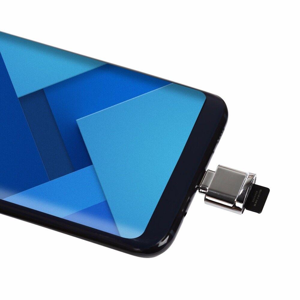 Mini Type-C USB3.1 Micro SD TF Memory Card Reader OTG Adapter for Macbook Phone