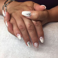 100% REAL GEL NAILS, shellac application , pedicures, manicures,