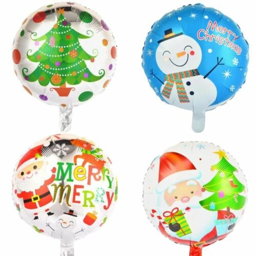 4pcs 18inch Christmas Foil Balloons Helium Decor Inflatable Air Party Supplies