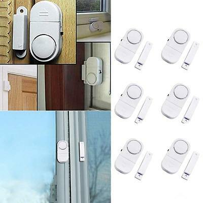 - 6 PACK WIRELESS DOOR AND WINDOW ENTRY ALARM BATTERY HOME SYSTEM SECUIRTY SWITCH