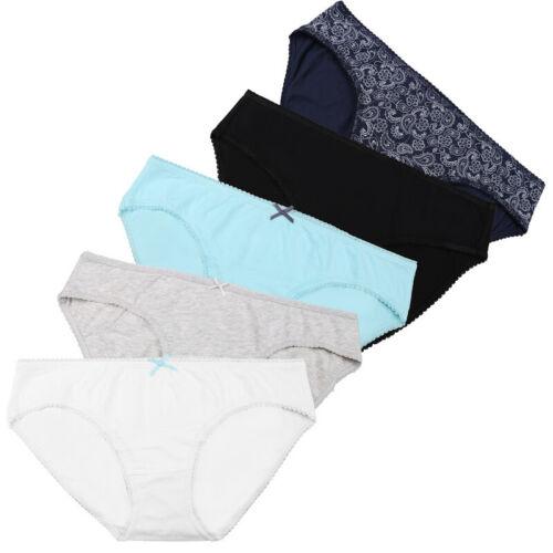 Damen Unterwäsche 5er Pants Unterhosen Baumwolle Panties Hipster Mama Höschen