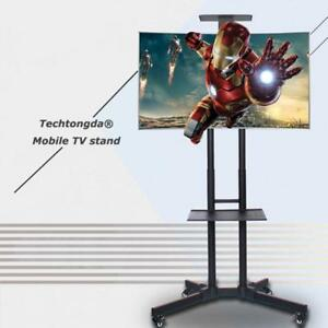 Techtongda Mobile Flat Panel TV Stand Cart LCD LED Plasma Shelf For 17''-70'' TV  251038