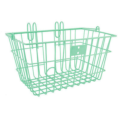 Sunlite Lift Off Bicycle Basket 14.5x8.5x7inch-quick mount liftoff-Seafoam Green