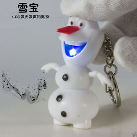 CARTOON FILM FROZEN CHARACTER OLAF KEYCHAIN LED TORCH & SOUND L@@K ELSA HANS.***