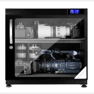 80L Digital Dehumidify Dry Cabinet Box 2 Shelf Camera anti-mold storage Dryer 154015