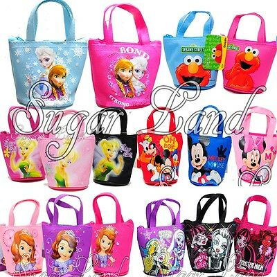 12 PACK Frozen Anna Elsa Mickey Minnie Candy Bags Mini Coin Party Purses Favors](Candy Bags Purses)