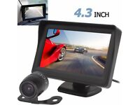 "REVERSING CAMERA & 4.3"" CAR TFT MONITOR UK POSTAGE £3.50"