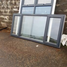 Anthracite grey upvc window