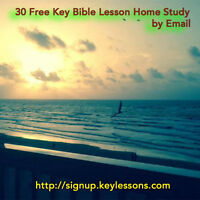 A FREE Complete 30 Lesson Bible Study course by email.