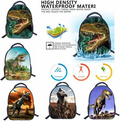 Kids Backpack 3D Cartoon Print Dinosaur School Bag Shoulder Bag for Kindergarden