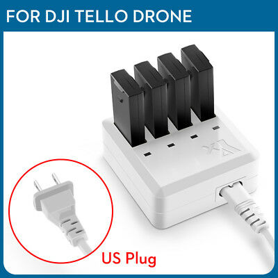 4 in 1 Tello Battery Multi Charger Aware Charging Hub For DJI Tello Drone